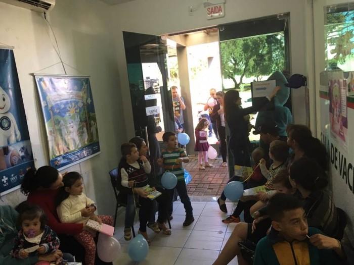 Xanxerê vacina 100% das crianças durante campanha contra Pólio e Sarampo