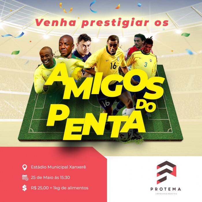 Pelada dos Amigos reúne atletas do Penta em Xanxerê