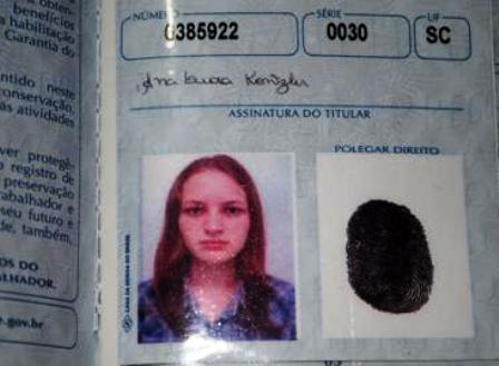 Ana Leda Kontzler, 17 anos