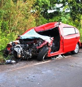 Acidente entre ônibus e veículo faz uma vítima fatal em Abelardo luz