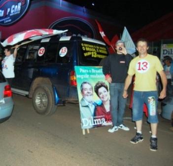 Em Xanxerê, Dilma conseguiu a maioria dos votos