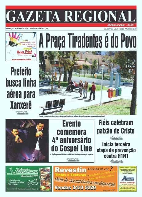 Confira a edição de hoje do jornal Gazeta Regional