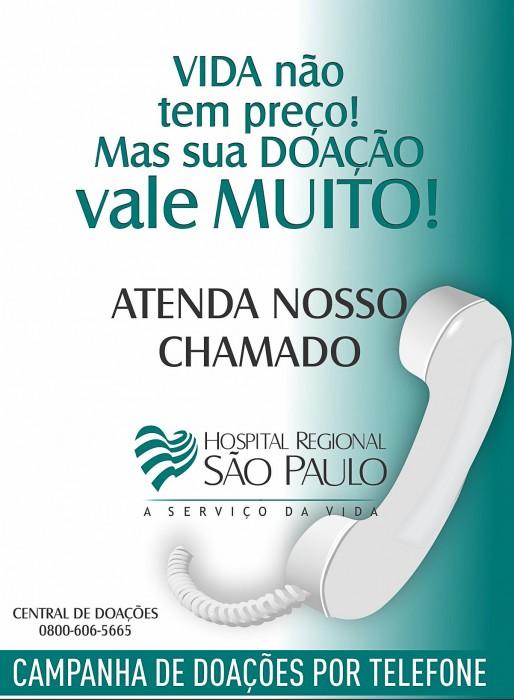 Hospital Regional São Paulo lança campanha para doações da comunidade via fatura de luz