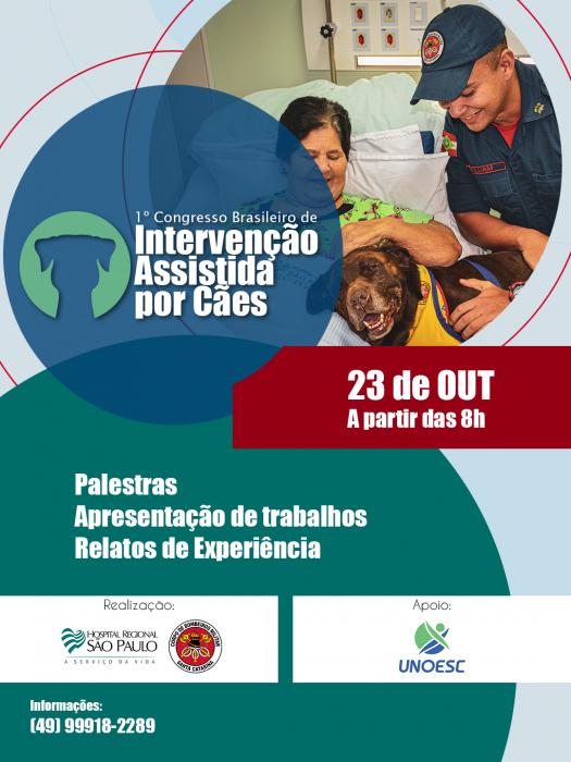 Xanxerê vai sediar I Congresso Brasileiro de Intervenção Assistida por Cães