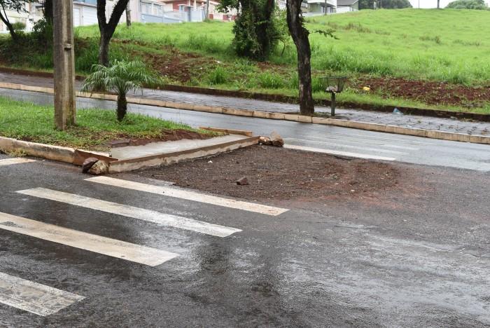Governo de Xaxim amplia acessibilidade em faixas de pedestres do município