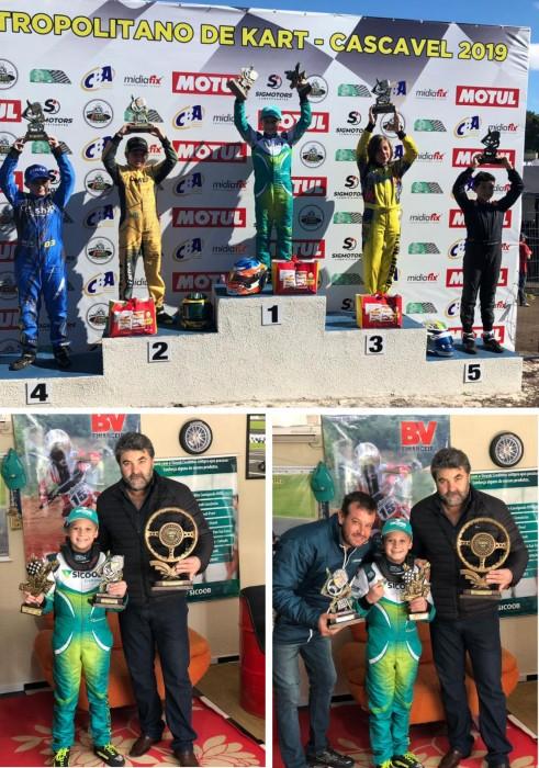 Gabriel Moura: piloto patrocinado pelo Sicoob Credimoc é Campeão no Paraná