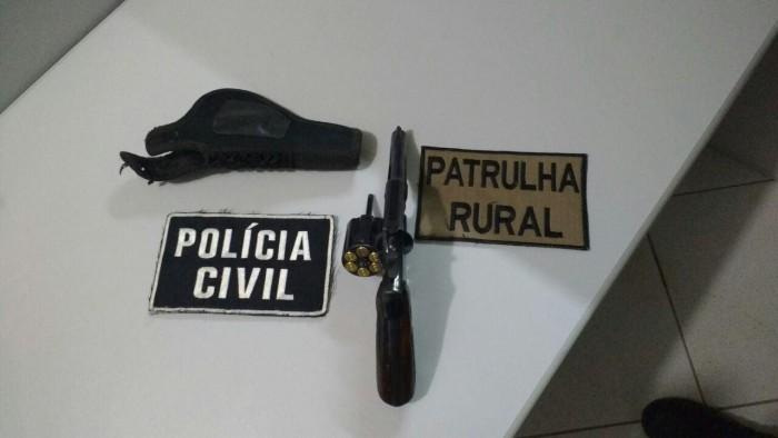 Patrulha Rural e Polícia Civil fazem prisão em Xaxim por porte ilegal de arma de fogo