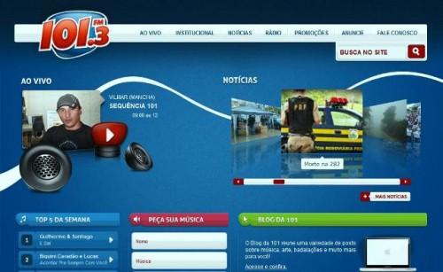 Novo site da 101.3 FM tem mais de 18 mil acessos